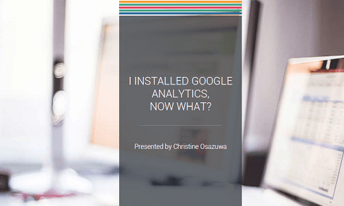 Intermediate Google Analytics Workshop