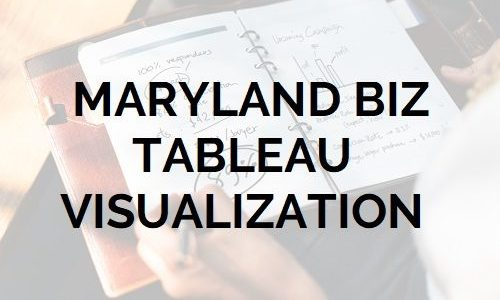 Maryland Business Tableau Visualization