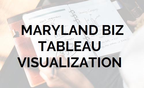 Maryland Business Tableau Visualization